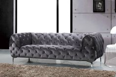 Looking for Meridian Furniture Mercer Grey Velvet Sofa Grey ? Check out our picks for the Meridian Furniture Mercer Grey Velvet Sofa Grey from the popular stores - all in one. Fabric Sofa, Grey Velvet Sofa, Velvet Sofa, Tufted Sofa, Meridian Furniture, Sofa, Sofa Upholstery, Grey Tufted Sofa, Gray Sofa