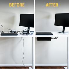 Stalwart Under Desk Cable Organizer Cord Cover in - The Home Depot - Farah Brown Hide Cables, Hide Wires, Hiding Tv Cords On Wall, Home Office Setup, Home Office Design, Hide Computer Cords, Cord Hider, Under Desk Storage, Hidden Storage