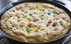 A Giant Peanut Butter M&M Cookie and 7 Other Awesome Things To Make With Chocolate Chip Cookie Dough