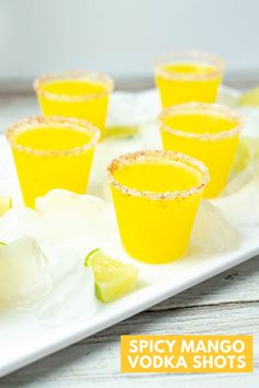 Shake up this vodka shot recipe for a spicy mango party drink! This vodka shots recipe is easy and delicious. Use fresh mango for a delicious flavor! Roast Recipes, Ramen Recipes, Cod Recipes, Carrot Recipes, Noodle Recipes, Sausage Recipes, Steak Recipes, Turkey Recipes, Potato Recipes