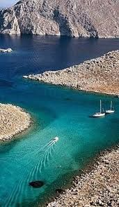 Speedboats and sailboats, an often uneasy relationship. Even here at Symi Island, Greece. Places Around The World, The Places Youll Go, Places To See, Around The Worlds, Dream Vacations, Vacation Spots, Santorini, Wonderful Places, Beautiful Places