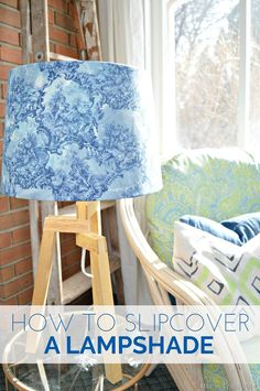How to Slipcover a Lampshade - Mad in Crafts