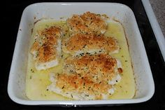 Miss Jen's Kitchen Adventures: Baked Haddock White wine, butter, and ritz crusted fish Breaded Haddock Recipe, Baked Haddock Recipes, Seafood Casserole Recipes, Seafood Recipes, Cooking Recipes, Diabetic Recipes, Keto Recipes, Fishing, Seafood