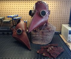 DIY Plague Doctor Mask!  This Instructable uses a laser cutter, however you could also cut the leather by hand.    Quick history lesson: During the bubonic plague in Medieval Europe cities would hire masked Plague Doctors to tend to the infected. More information on Plague Doctors can be found on Wikipedia.