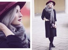 Pepaloves, Fall Style, Fall Fashion, Autumn Outfit, Herbstlook, pastel hair, grey hair, Fashion Blog