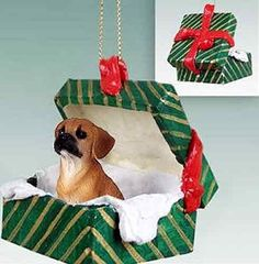 Puggle Gift Box Christmas Ornament Brown  DELIGHTFUL ** This is an Amazon Affiliate link. Check this awesome product by going to the link at the image.
