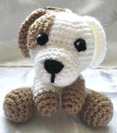 Puppy Keyring - Handmade Crochet Amigurumi