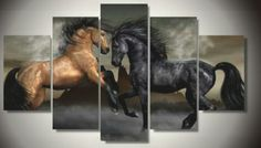 5 Pieces/set Print horse painting modern home decor wall art canvas picture for living room decor print Painting on canvas art Canvas Wall Decor, Canvas Artwork, Home Decor Wall Art, Canvas Frame, Canvas Prints, Room Decor, Canvas Paintings, Framed Prints, Horse Oil Painting