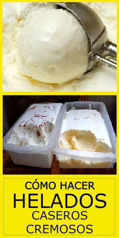 Ice Cream Desserts, Ice Cream Recipes, Easy Desserts, Delicious Desserts, Tapas Recipes, Dessert Recipes, Cooking Recipes, Tapas Food, Vegan Ice Cream