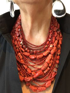 Gallery Freya - Monies Unique Coral necklace