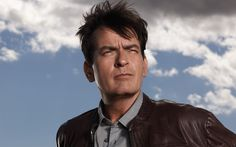 Download wallpapers Charlie Sheen, Carlos Irwin Estevez, American actor, 4k, portrait, brown leather jacket