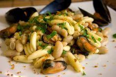 Ricette Pugliesi: Cavatelli con cozze e fagioli