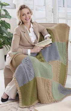 Autumn Throw Knitting Pattern #knit