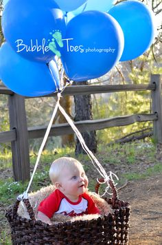 Baby photo idea, baby boy photos, hot air balloon photos, photography, baby photo, Running Springs CA