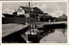 Nordseebad Horumersiel Wangerland, Blick zum Strandhotel, Boot Fahrwohl