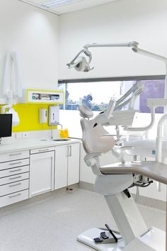 Bright yellow splash of colour in surgery | Glo Dental | Cockburn Central Western Australia | Ego Squared Design Consultants