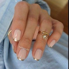 Gold tipped manicure