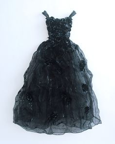"Sophie DeFrancesca ~ ""Midnight Whispers"" (2011) Wire mesh, latex, blue black automotive paint w handcrafted roses 5 ft. x 42 x 9 in. Wall dress/Gown series via 1stDibs"