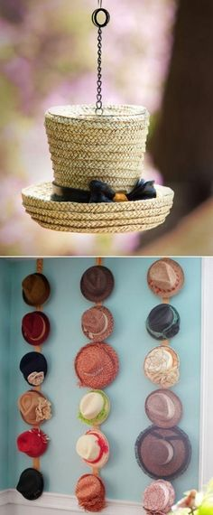 Ideas how to decorate your home with Hats