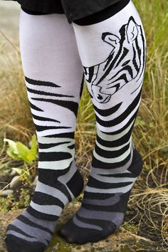 Socks by Sock Dreams » .Socks » Knee Highs » Zebra Knee High