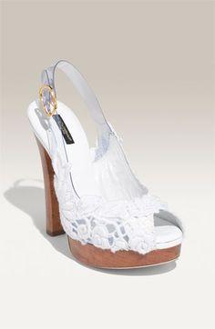 Dolce&Gabbana; Lace Slingback Pump | Nordstrom - StyleSays