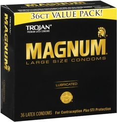 Trojan Magnum Lubricated Latex Large Size Condoms 36 Ea- for sale online Extra Large Condoms, Natural Rubber Latex, Health Shop, Health Facts, Mental Health, The Help, Packing, Sensitivity, Winter Style