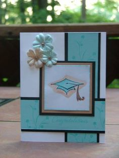 Clean and simple grad card at Splitcoaststampers. love the design of this. Could be used for any occasion Graduation Cards Handmade, Congratulations Card, Card Sketches, Creative Cards, Cute Cards, Scrapbook Cards, Homemade Cards, Stampin Up Cards, Cardmaking