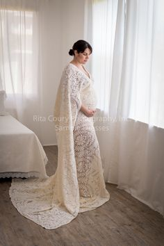 Custom photography sessions include wardrobe styling and custom fitting of beautiful dresses and draped fabrics
