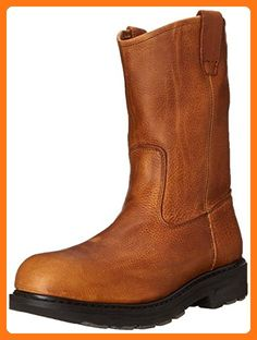 Wolverine Men's Herrin Steel-Toe EH Wellington Work Boot Summer Tan 11.0 / EW and Work Sock Bundle (*Partner Link)