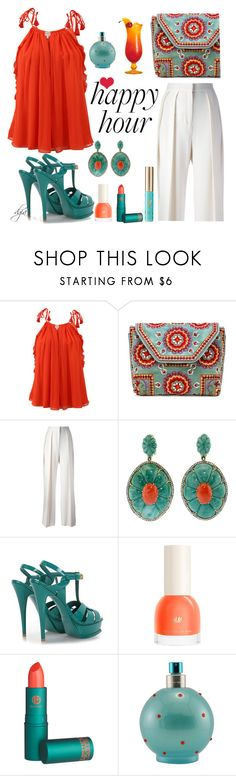 """""""Happy Hour"""" by dgia ❤ liked on Polyvore featuring Alexis, Antik Batik, By Malene Birger, Silvia Furmanovich, Yves Saint Laurent, Lipstick Queen and Britney Spears"""