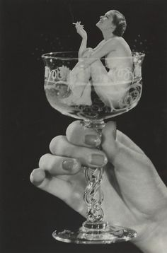 and drinkin'?   ~ Woman in Champagne Glass