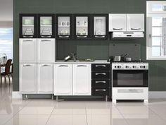 Cozinha Compacta Itatiaia Premium com Balcão - 13 Portas 4 Gavetas Aço com as…