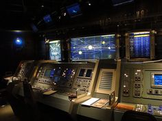 Inside Mission Space before takeoff