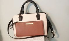 NINE WEST ZIP N GO handbag and crossbody.Satchel TOTE MESSENGER BAG purse #NineWest #TotesShoppers