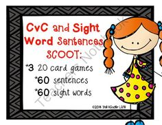 Easter Giveaway! - Happy Easter Giveaway Fun!.  A GIVEAWAY promotion for Sight Word and CvC Sentence SCOOT- 60 sentence cards, 60 sight words,