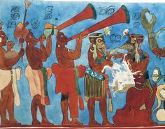 Beautiful Reconstruction Drawings of the Murals of Bonampak: Room 1: The Courtly Ceremony