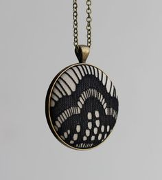Black Lace Jewelry Lace Necklace Black Art Deco by TheWhirlwind