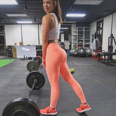 Solid High Waist Leggings Women Fitness Clothing Push Up Workout Leggins Mujer Fold Polyester Legging Orange XL Orange Leggings, Warm Leggings, Black Leggings, Cheap Leggings, Printed Leggings, Leggings Style, Legging Sport, Sports Leggings, Workout Leggings
