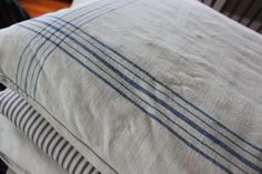 French Linen Pillow  Stripe by SpringHillFarm on Etsy, $45.00