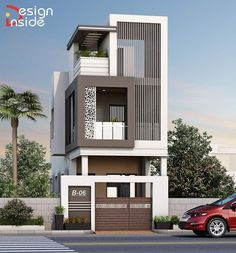 Indian House Exterior Design, Modern Exterior House Designs, Kerala House Design, Modern House Design, House Outer Design, House Front Design, Small House Design, Residential Building Design, Home Building Design