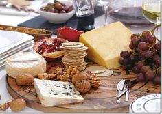 French Appetizer Tray on each table