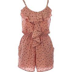 Bow Confetti Romper | Women's Dresses | RicketyRack.com via Polyvore