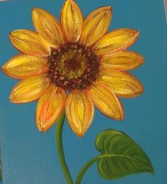 Artist and Instructor Angela Anderson shows step-by-step how to create this beautiful acrylic painting of a Sunflower. Sun Painting, Acrylic Painting Lessons, Simple Acrylic Paintings, Sunflower Canvas Paintings, Watercolor Sunflower, Kanvas Art, Peony Illustration, Flower Art Drawing, Paint And Sip