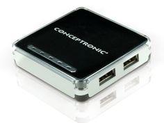 Conceptronic C4USB2 USB-Hub 4-Port USB 2.0 inkl Netzwerk-Hub Usb Hub, Easy Peasy, Computer Accessories, Nintendo Consoles, Html, Briefcases, Black, Accessories
