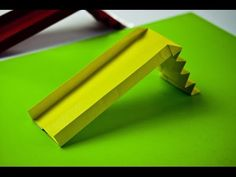 How to make a paper playground slide (origami) – craftsfurniture Origami Paper Size, Paper Crafts Origami, Diy Paper, Origami Chair, Origami Furniture, Paper Furniture, Furniture Stores, Playground Slide, St Patricks Day Crafts For Kids