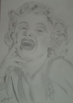 ",,Marilyn Monroe"" (rys. ołówkiem)"