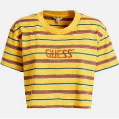 Guess Crop-Top hellgelb GuessGuess Land's End, Saint James, Polo Crop Top, Crop Tops, Guess Shirt, Polo Shirt, Polo Ralph Lauren, Aesthetics, Women's Fashion