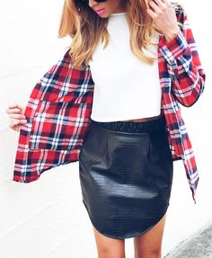 Leather and plaid... Perfection!