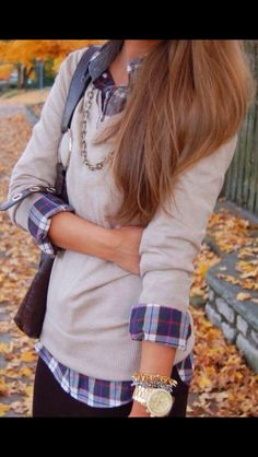 Fall plaid outfit ❤️