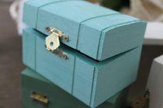 AQUA Ring Bearer Box Shabby Chic Wedding Decor door TheWildBee, $11.00